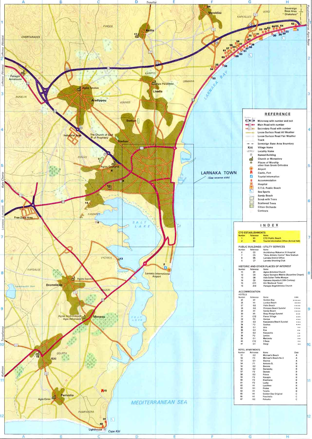 Larnaca Maps Larnaca area map and Larnaca city map